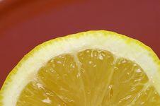 Free Sliced Lemon Closeup Stock Photography - 992302