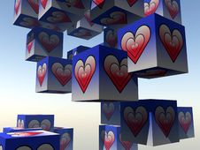 Free Cube Love 14 Royalty Free Stock Image - 992526