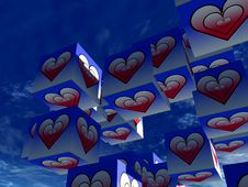 Free Cube Love 18 Royalty Free Stock Images - 992539