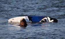 Free Fallen Water Ski Boarder Stock Photo - 992670