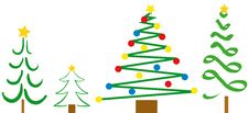 Free Christmas Tree Designs Stock Images - 993434