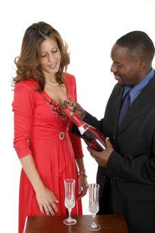 Free Romantic Couple Celebrating Royalty Free Stock Photo - 994705