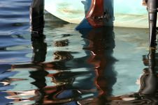 Free Motor Boat Reflections Stock Image - 997431