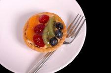 Free Fruit Tart On White Plate 3 Royalty Free Stock Images - 997609