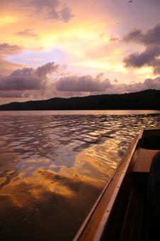 Free Boat @ Sunset Stock Photos - 998503