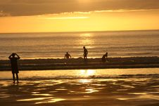 Free Surfer @ Sunset 2 Stock Images - 998744