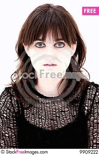 Emo Teen Headshot Stock Photo