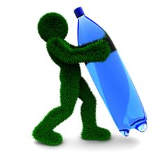 Free 3D Man Holds Bottle Isolated On White. Stock Image - 9901571