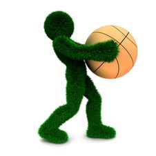 3D Man Holds The Ball Isolated On White. Stock Photography