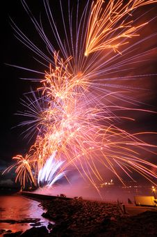 Free British Firework Championships Plymouth 2008 Royalty Free Stock Images - 9901729