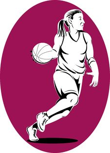 Free Woman Basketball Player Stock Photo - 9901990