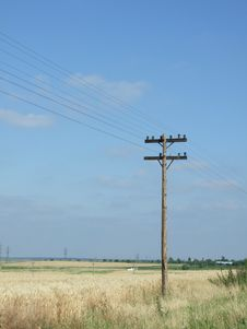 Telegraph Pole Royalty Free Stock Photography