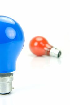 Colored Light Bulbs Stock Images