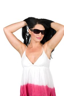 Free Young Woman With Sunglasses Stock Images - 9903024