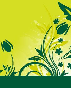 Free Green Floral Background Royalty Free Stock Photo - 9903175