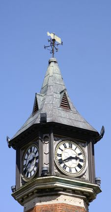 Free Top Of A Clock Tower Stock Photo - 9903260