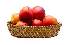 Free Basket Full Of Fresh Peaches Royalty Free Stock Photo - 9904645