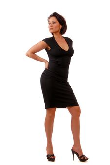 Free Lady In Black Stock Image - 9905511