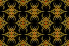 Free Fractal Spiders. Royalty Free Stock Photography - 9905647