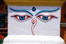 Free Buddha Eyes Royalty Free Stock Images - 9906169