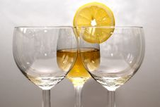 Free The Drink In The Glass With An Orange Royalty Free Stock Images - 9907499