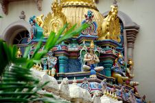 Free Singapore: Sri Krishnan Hindu Temple Royalty Free Stock Image - 9908176