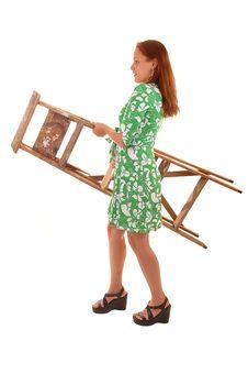 Free Girl Caring Stepladder. Royalty Free Stock Image - 9908686