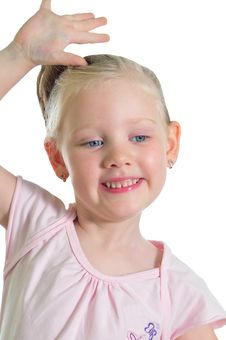 Free Portrait Of The Little Smiling Girl Stock Photos - 9909363