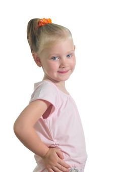 Free Happy Little Girl Royalty Free Stock Image - 9909406