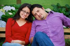 Free Beautiful Hispanic Young Couple Royalty Free Stock Photo - 9909455
