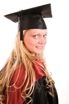 Free Portrait Of Young Happy Student Stock Image - 9909741