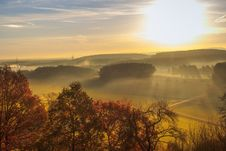 Free Sky, Dawn, Mist, Morning Stock Image - 99000101