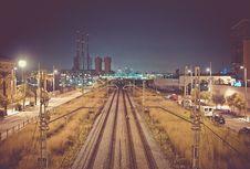 Free Railways City Night Stock Images - 99032064