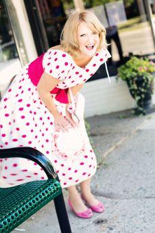 Free Clothing, Pink, Human Hair Color, Polka Dot Stock Image - 99039381