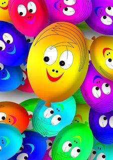 Free Yellow, Smiley, Balloon, Emoticon Stock Images - 99042604