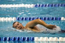 Free Swimming, Swimmer, Leisure, Water Stock Photos - 99051403