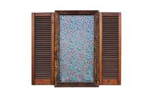 Free Window With Wooden Shutters Isolation Royalty Free Stock Photos - 9910058