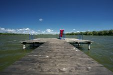 Free Pier With The Slide Royalty Free Stock Photography - 9910317