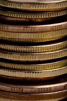 Free Coins Closeup Stock Image - 9910501
