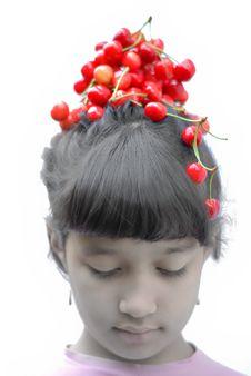 Free Cherry Girl Stock Image - 9910551
