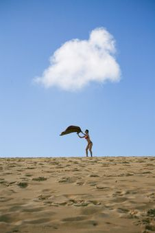 Young Woman At Beach On Sunny Day Royalty Free Stock Photo