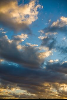 Free Sky At Sunset Stock Image - 9911291
