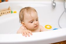 Baby In Bath Royalty Free Stock Photography