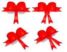 Red Bow Element Royalty Free Stock Image