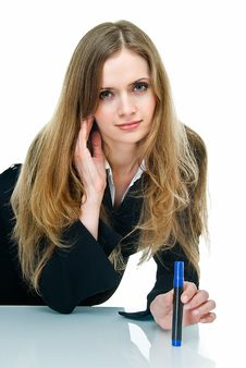Free Young Business Lady Royalty Free Stock Photography - 9912727
