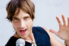 Free Rock Star Jamming Out Royalty Free Stock Photos - 9912888