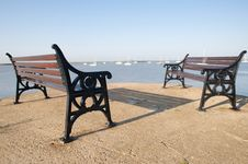 Free Seaside Benches Stock Images - 9913014