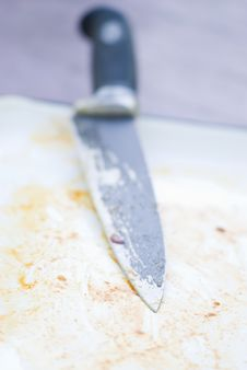 Free Knife And Blood Royalty Free Stock Image - 9914176