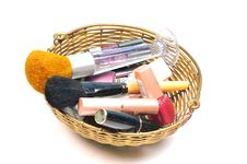 Cosmetic And Brushes Stock Images