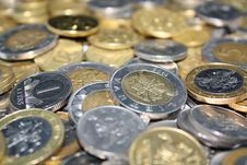 Free Coins Background Royalty Free Stock Image - 9915436